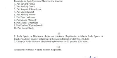 Rada Sportu w Blachowni