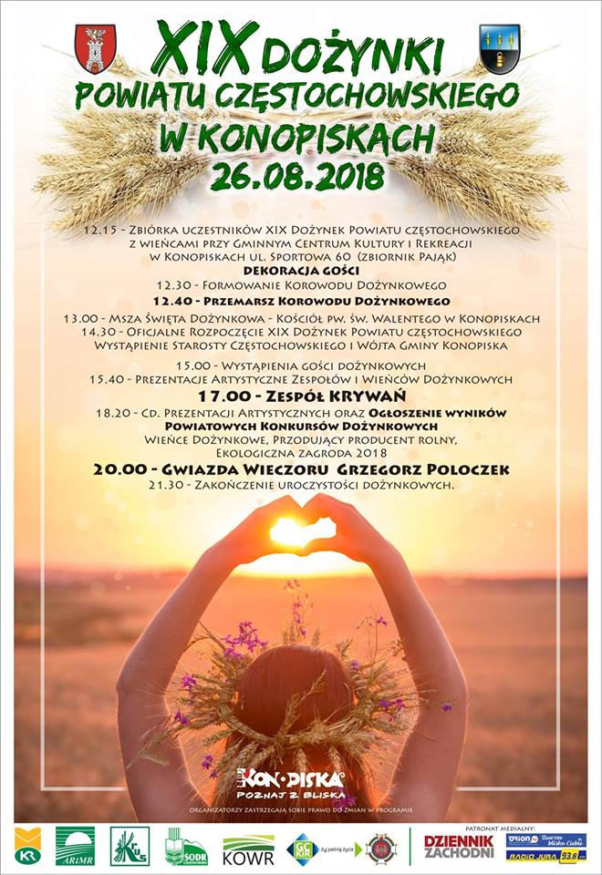 Jutro dożynki powiatowe w Konopiskach