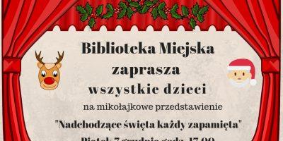 Mikołajkowe przedstawienie w bibliotece miejskiej w Blachowni