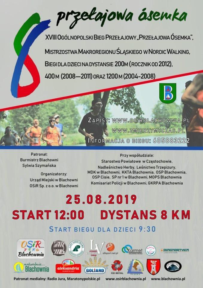 Blisko 600. zawodników na starcie Przełajowej Ósemki i mistrzostw w Nordic Walkingu
