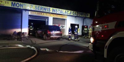 Pożar w warsztacie samochodowym w Nowej Gorzelni