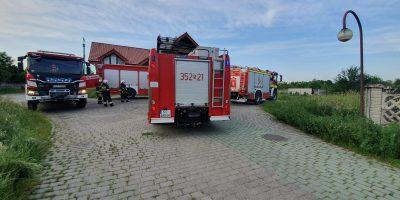 Pożar w pensjonacie w Konradowie