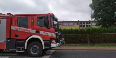 Ładunek z gazem trującym na terenie szkoły w Łojkach? Fałszywy alarm?